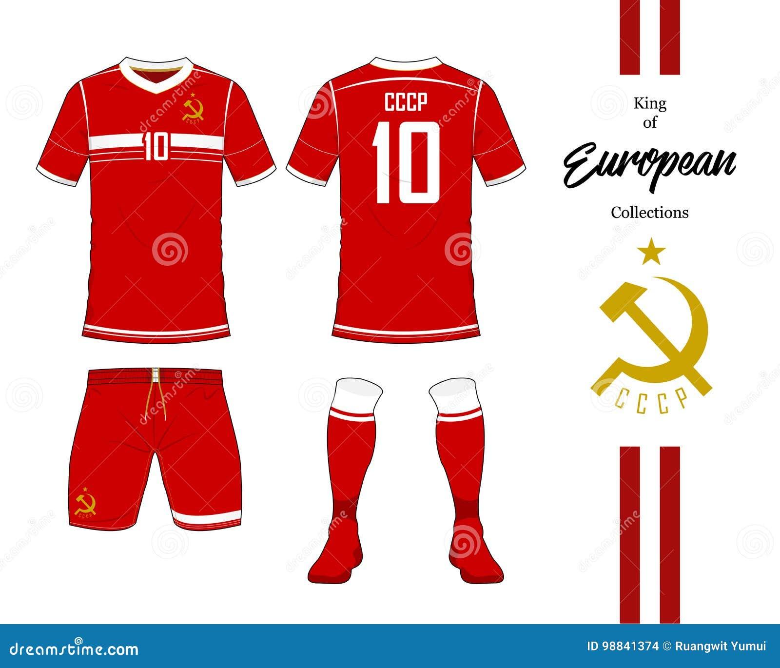 080de6d489f Soviet Union Football National Team Uniform. Stock Vector ...