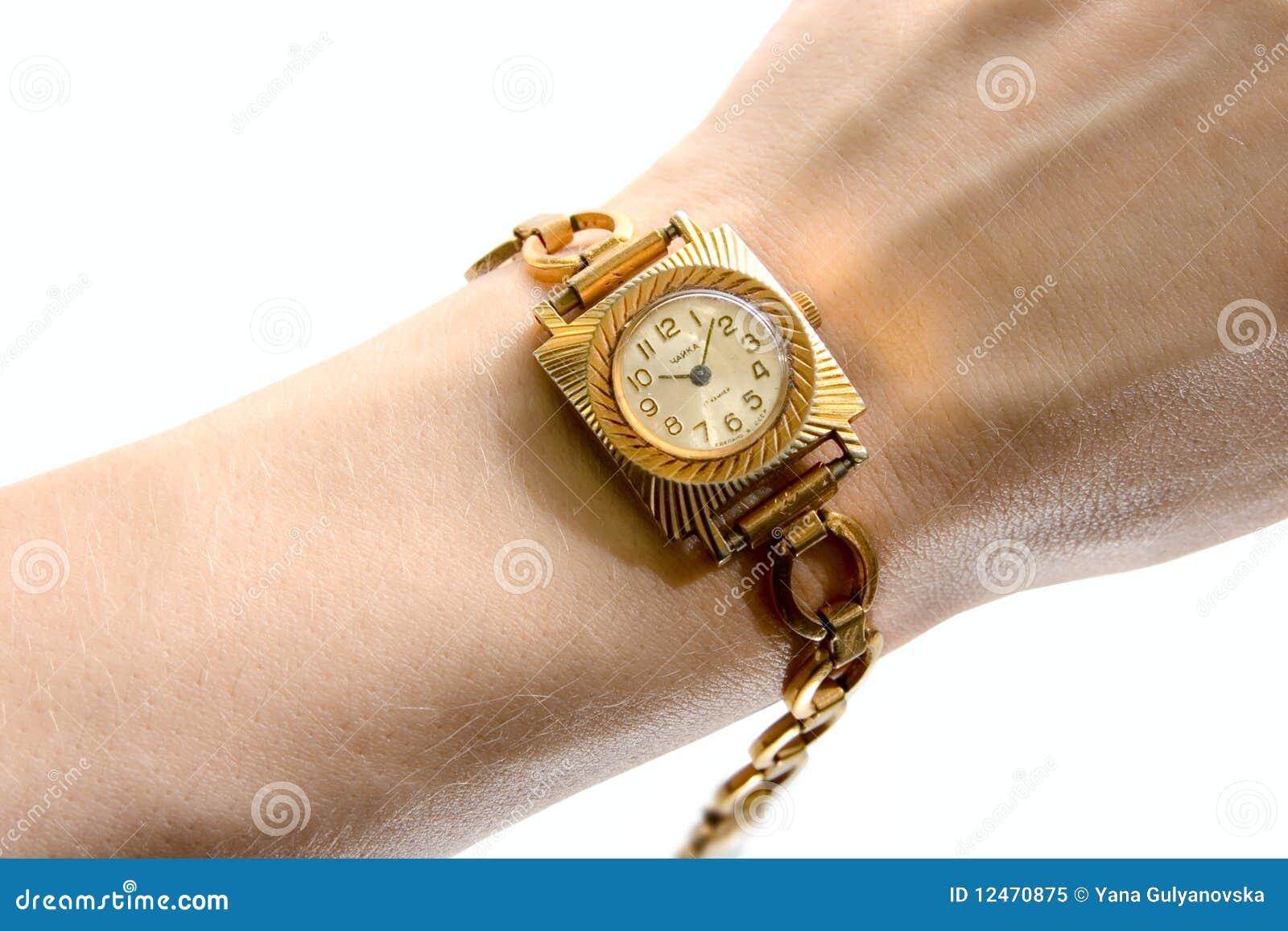 Soviet Wrist-watch On Human Hand Royalty Free Stock Photo ...