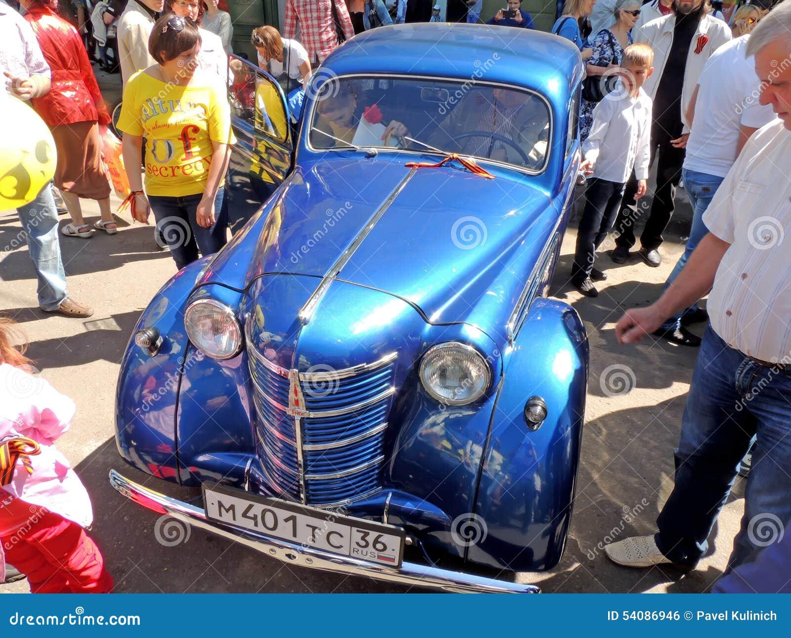 Sovjeteconomie retrocar van jaren  50 Moskvitch 400(401)