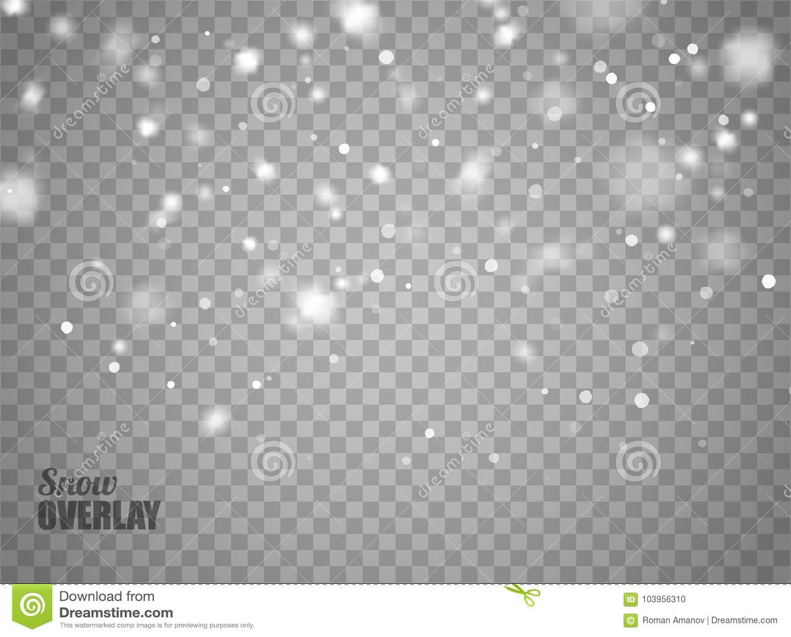 Fiocchi Di Neve Di Carta Modelli : Sovrapposizione della neve su fondo trasparente fiocchi di neve di