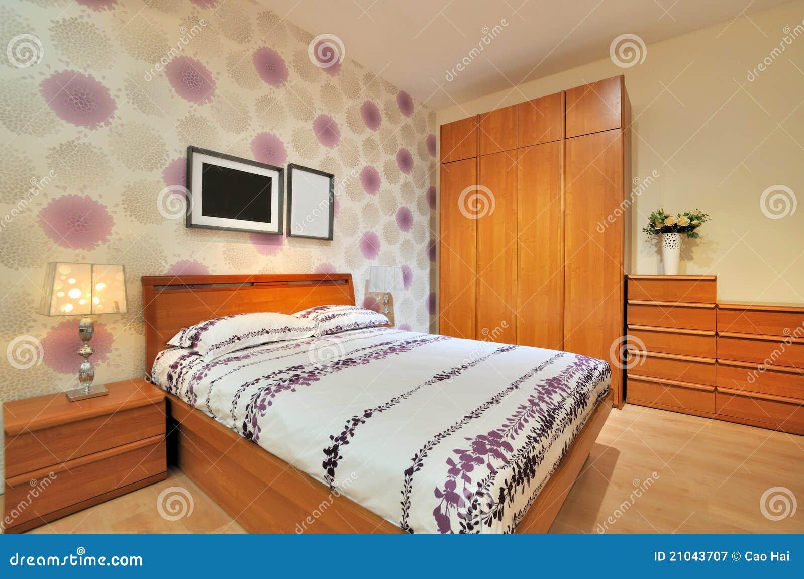 Sovrum dekorerat enkelt royaltyfri fotografi   bild: 21043707
