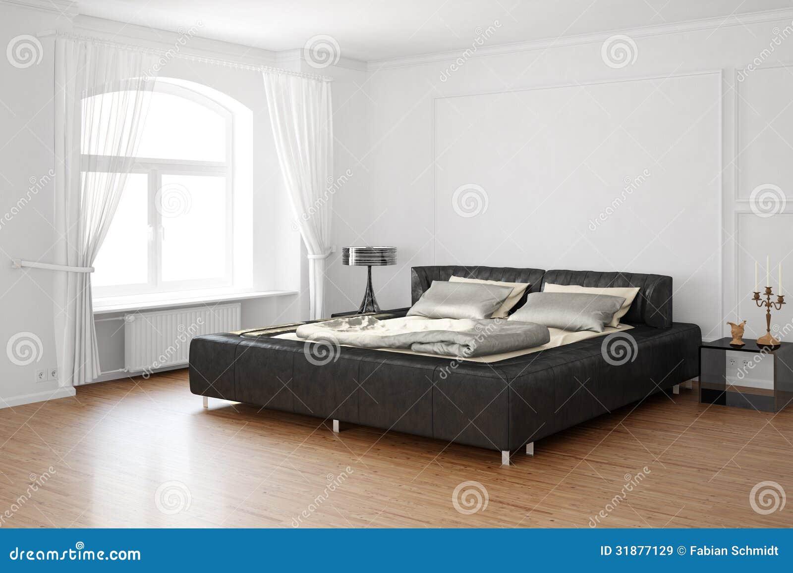 Sovrum med säng och läder royaltyfria bilder   bild: 31877129