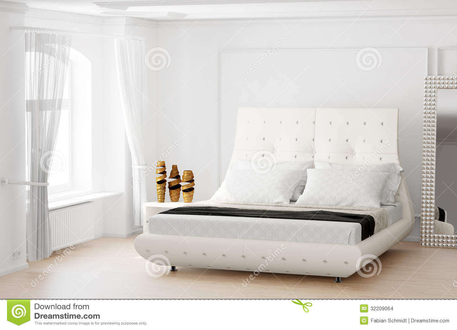 Sovrum med spegeln arkivbilder   bild: 32209064