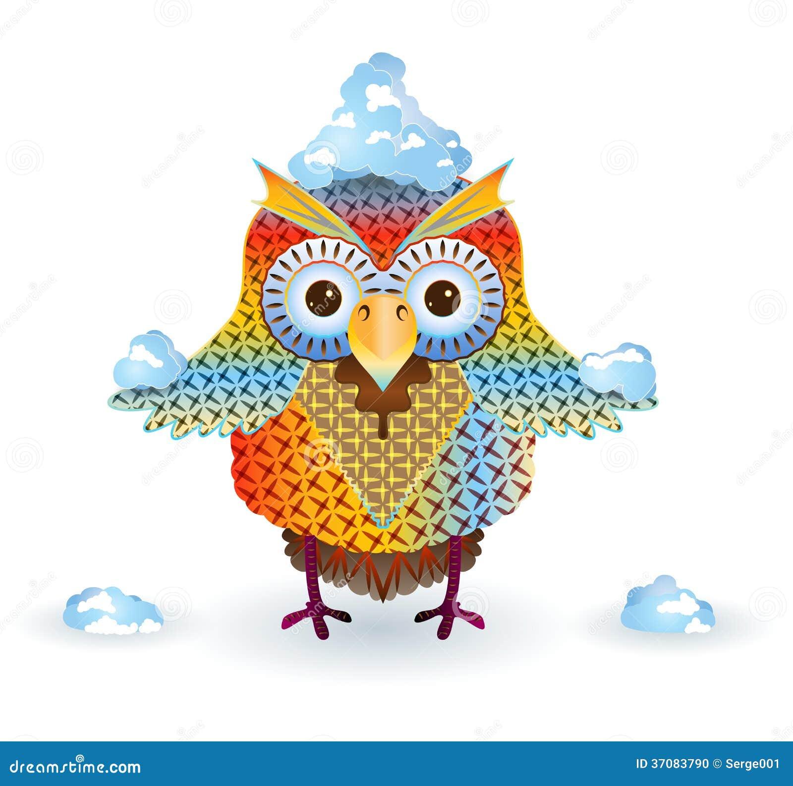 Download Sowa i śnieg ilustracji. Ilustracja złożonej z zwierzę - 37083790