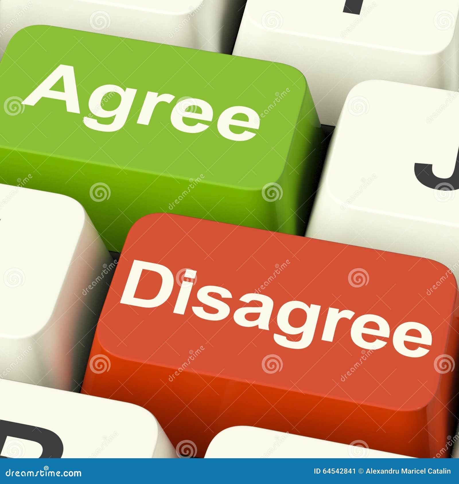 Soyez en désaccord et convenez les clés pour le scrutin ou le vote en ligne