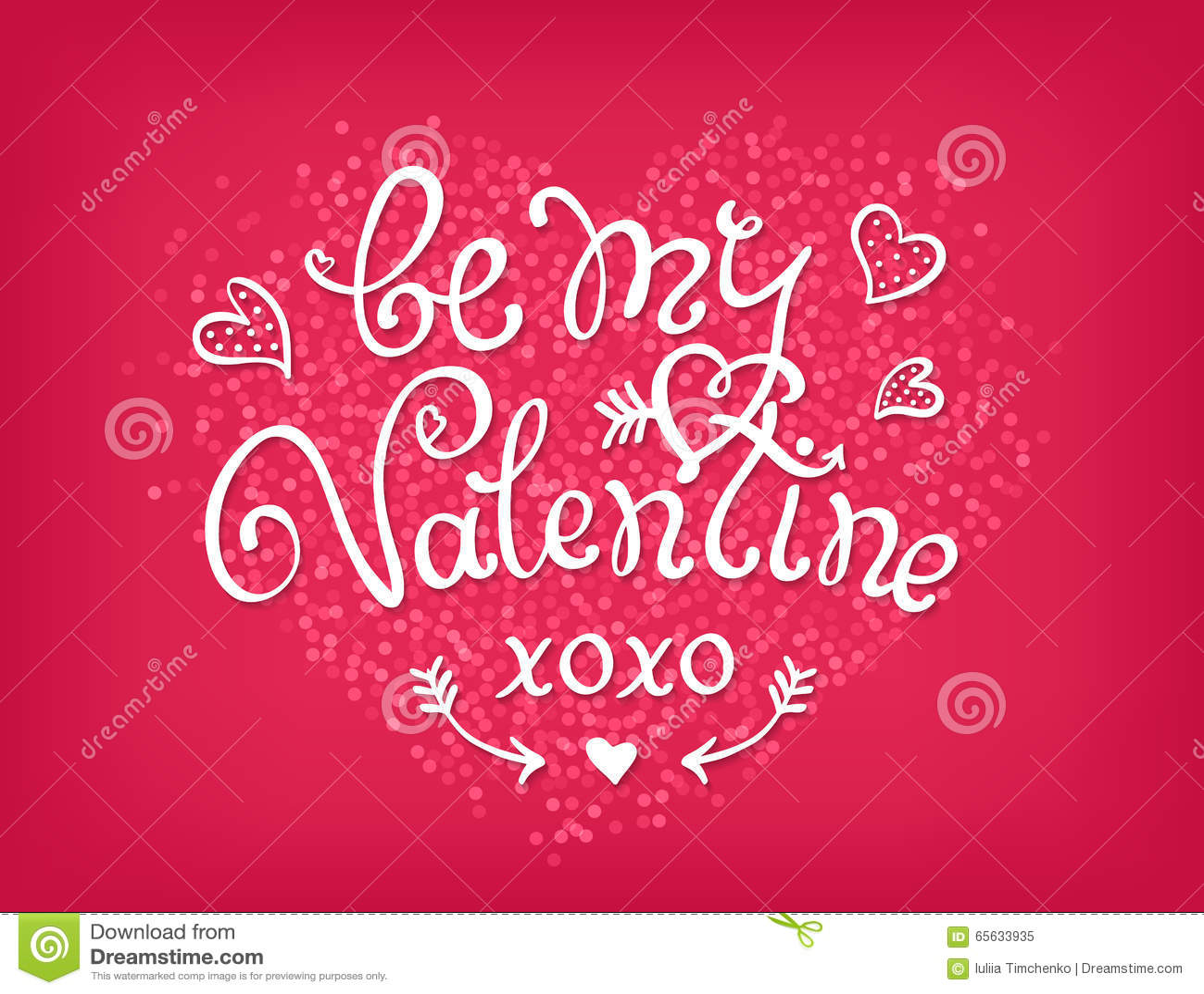 Soyez mon texte décoratif manuscrit de Valentine Main