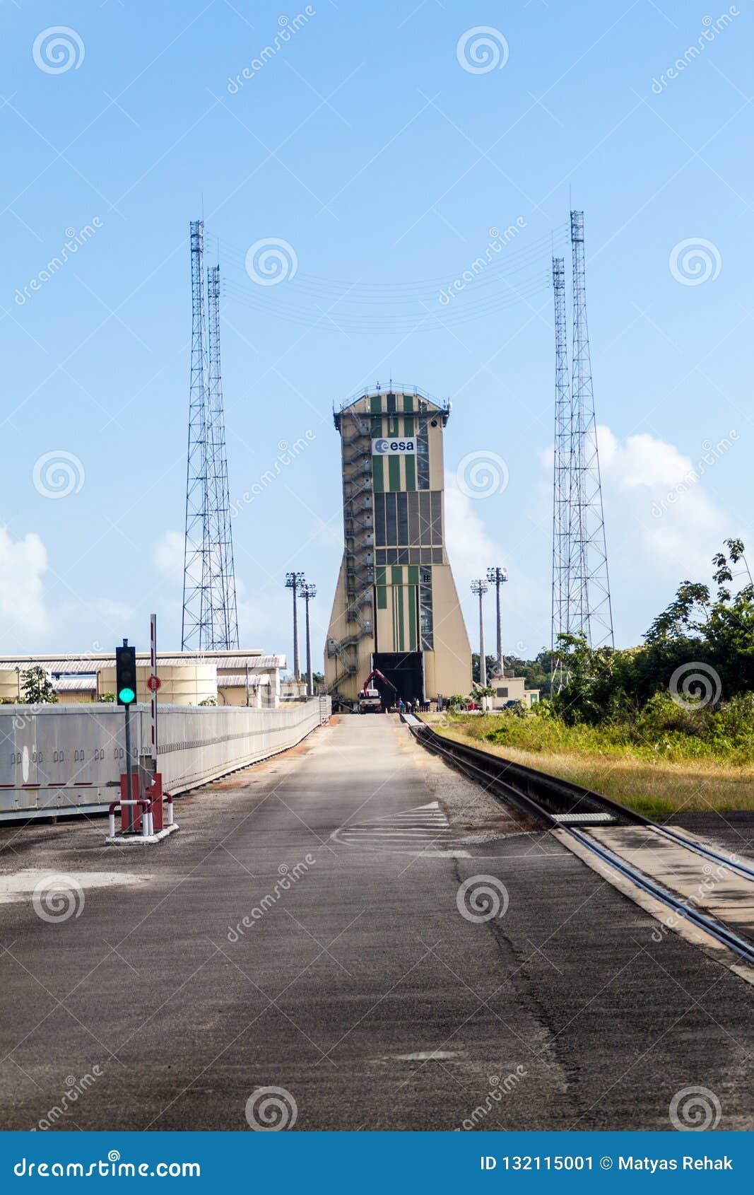 Soyuz-Produkteinführungs-Komplex in der Guayana-Raum-Mitte