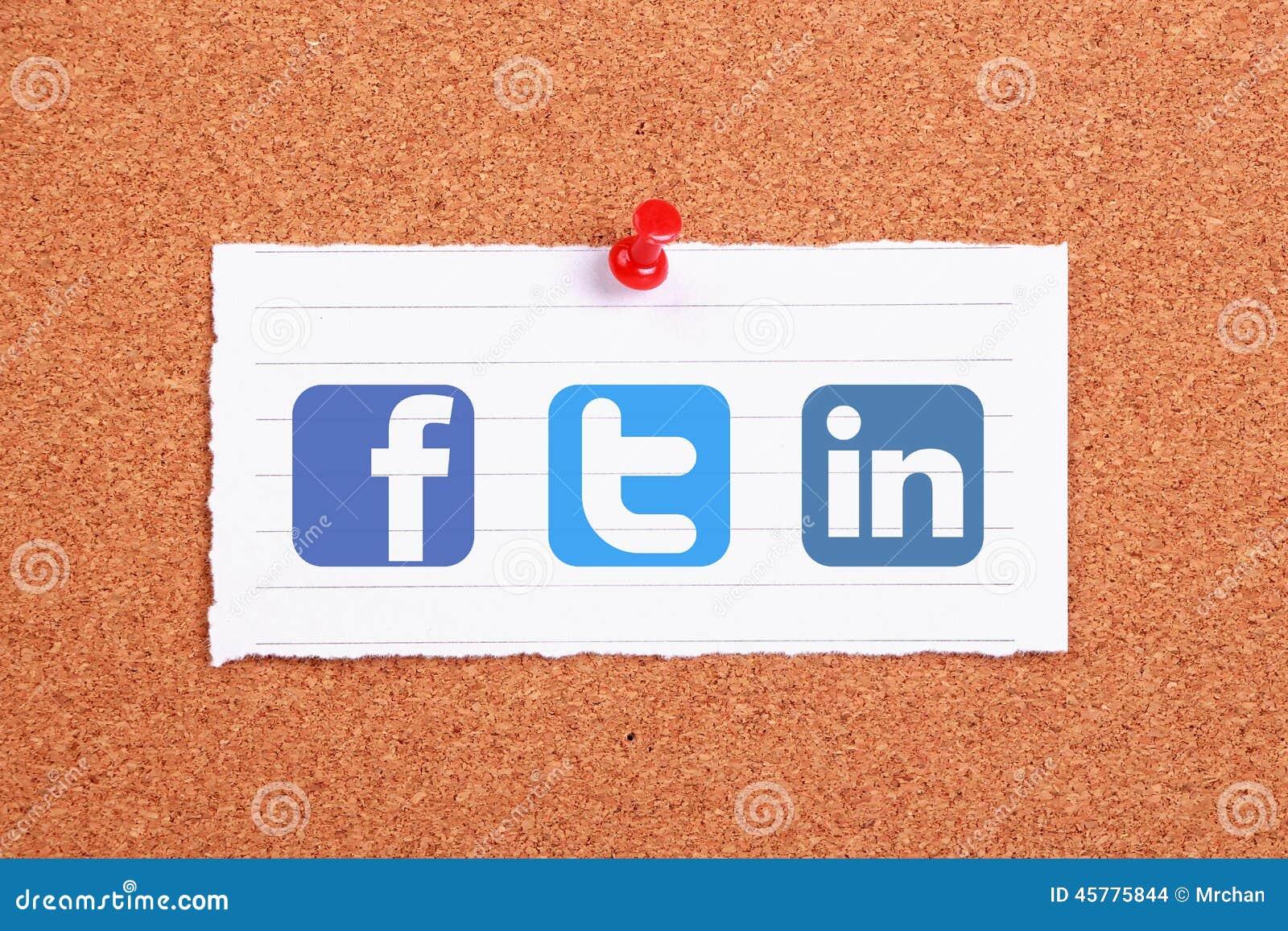 Soziale netzwerke redaktionelles stockbild