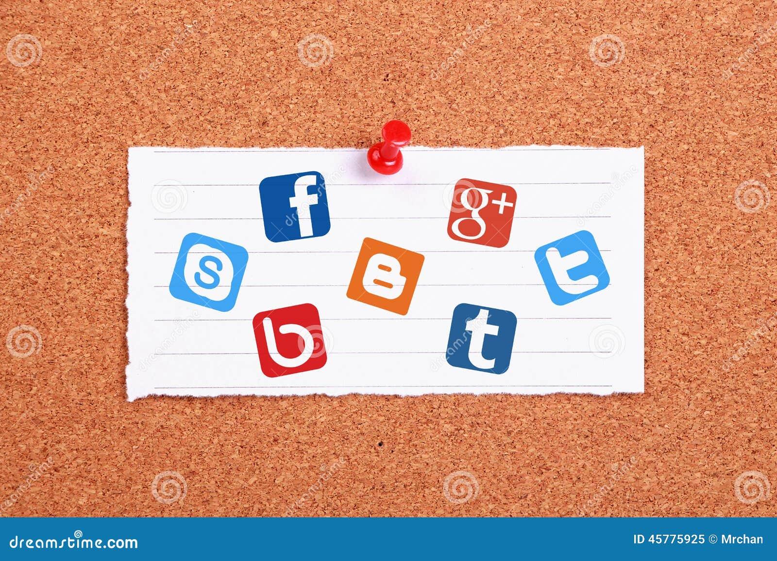 Soziale netzwerke redaktionelles bild