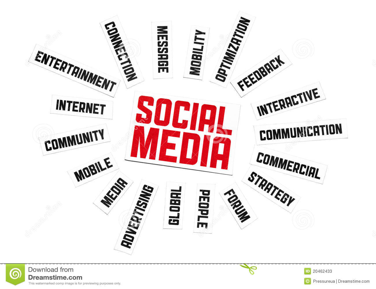 Sozialmedia-Zeichen