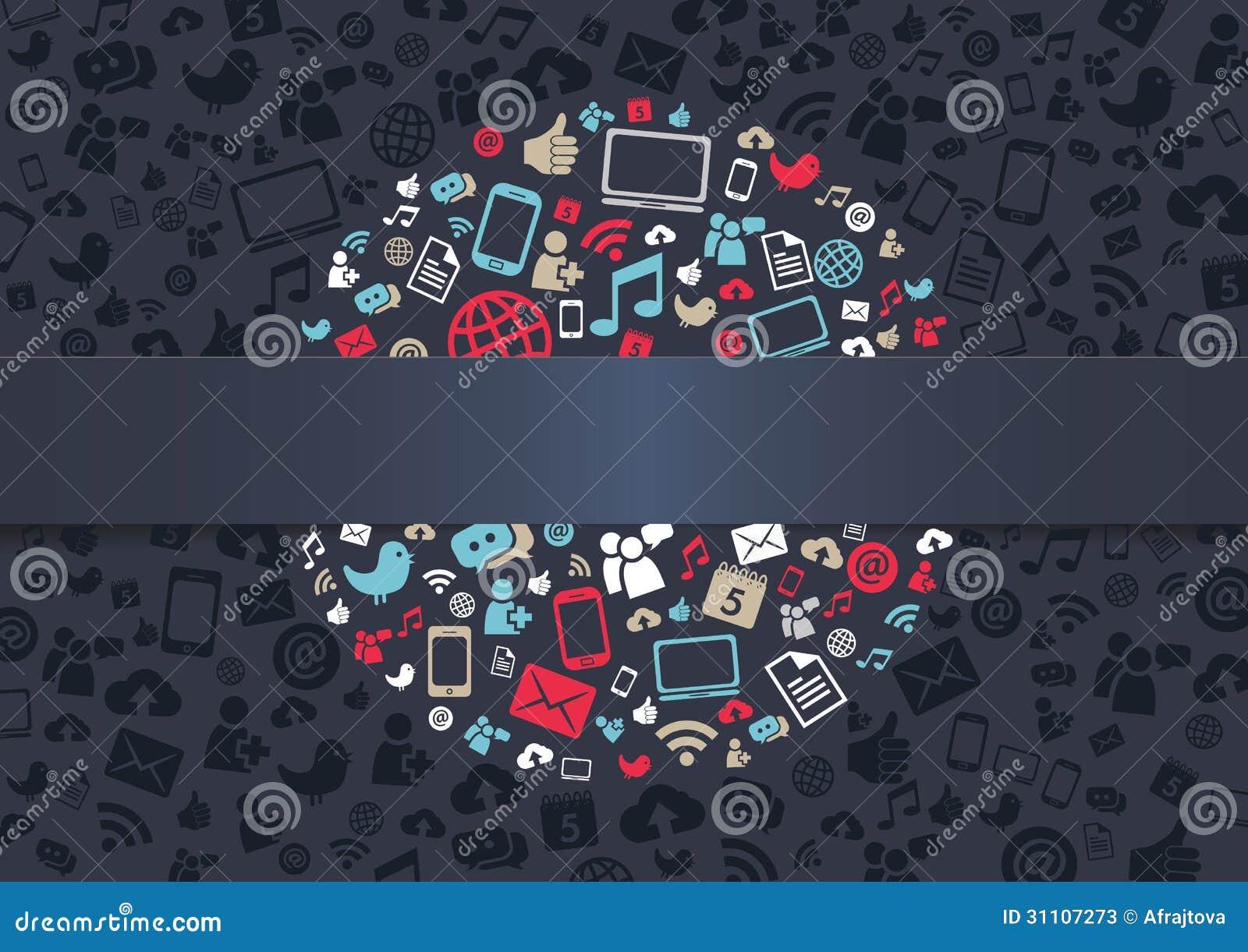 Sozialmedien-Hintergrund