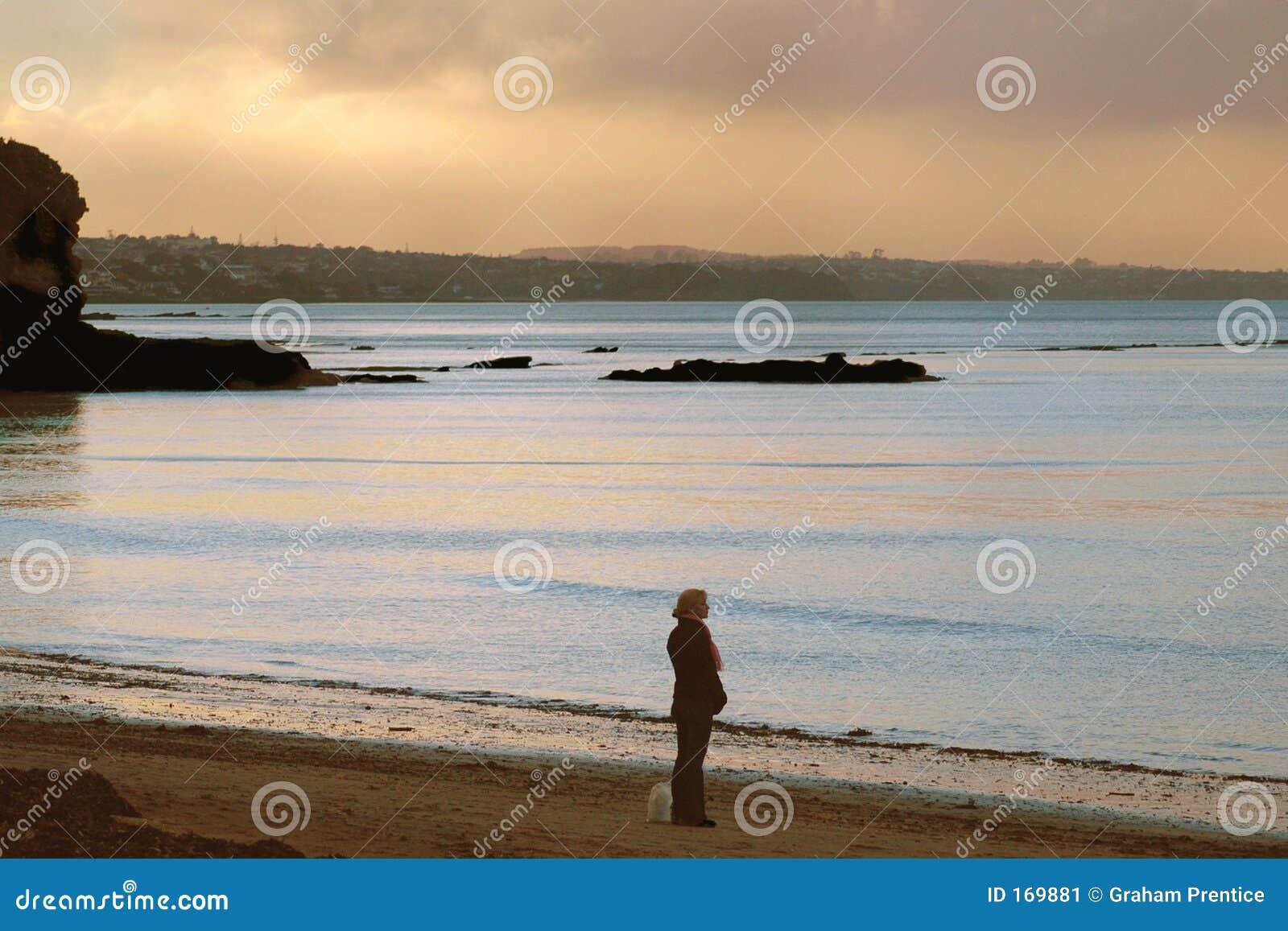 Sozinho na praia