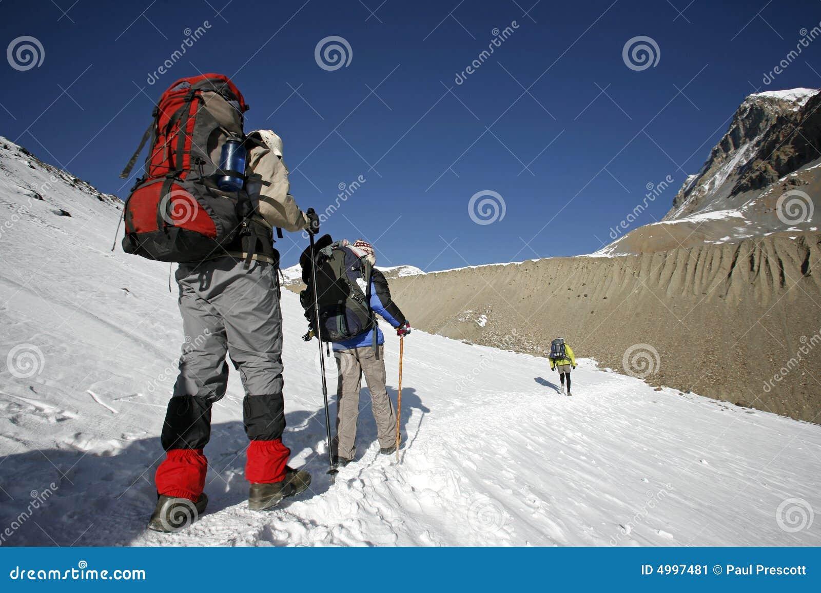 Spójrz ścieżki zmiany górskie