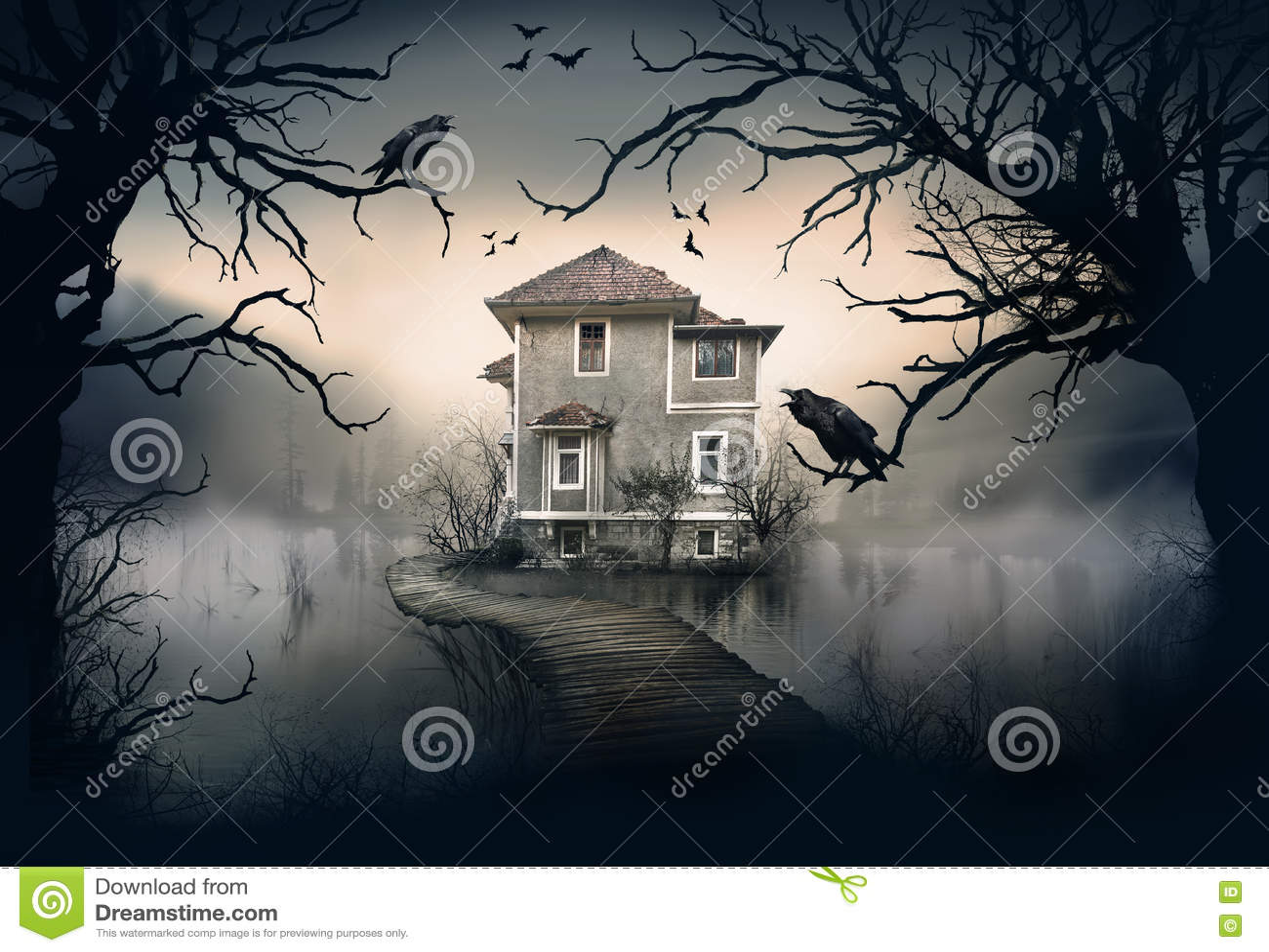 Spökat hus på sjön