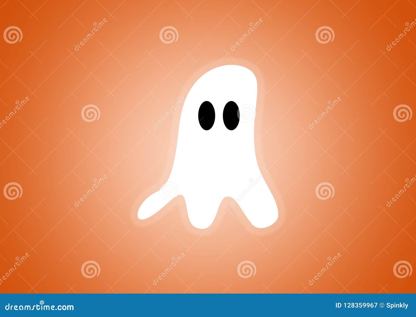 Spöke som illustreras digitalt på orange bakgrund