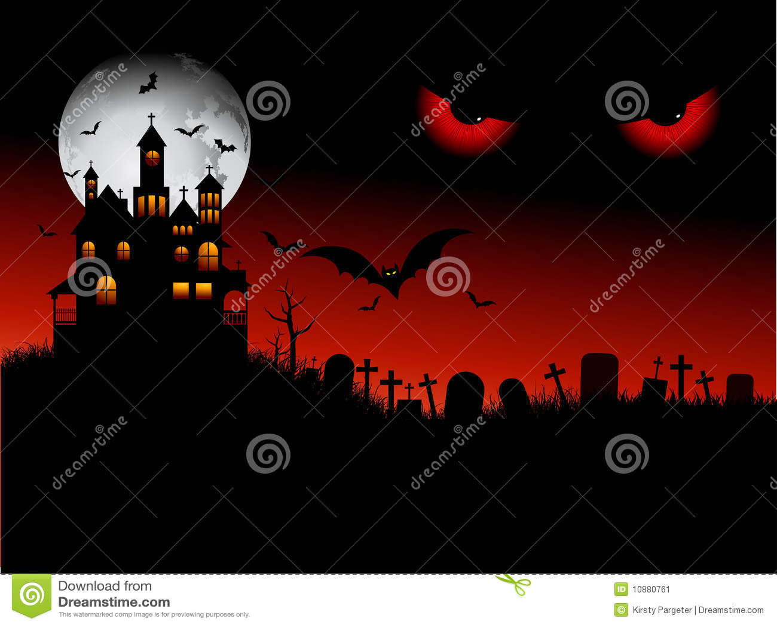 Spöklik halloween plats
