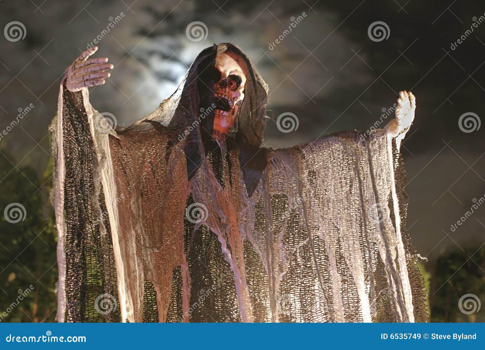 Spöklikt halloween skelett
