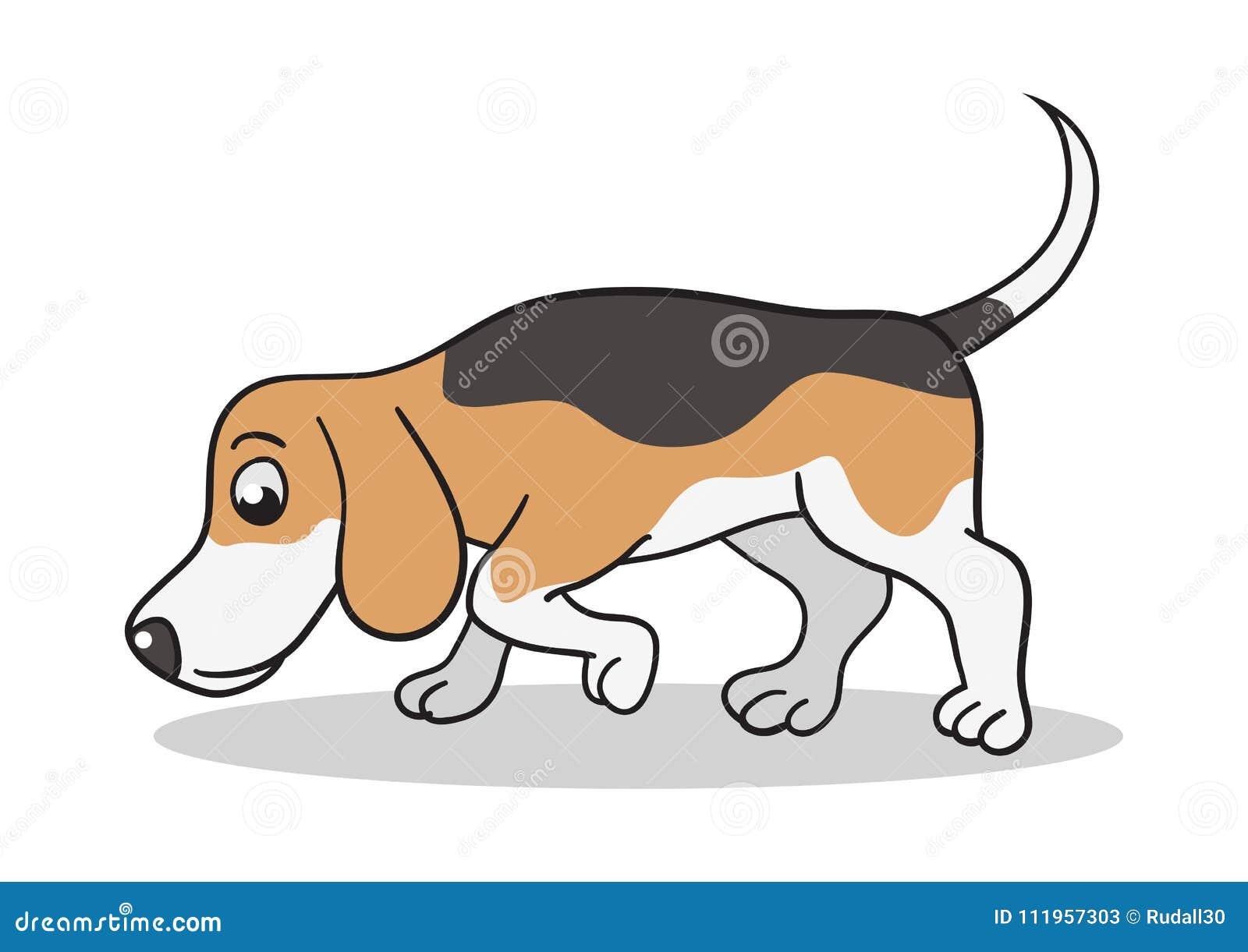 Spürhund-Hundekarikatur