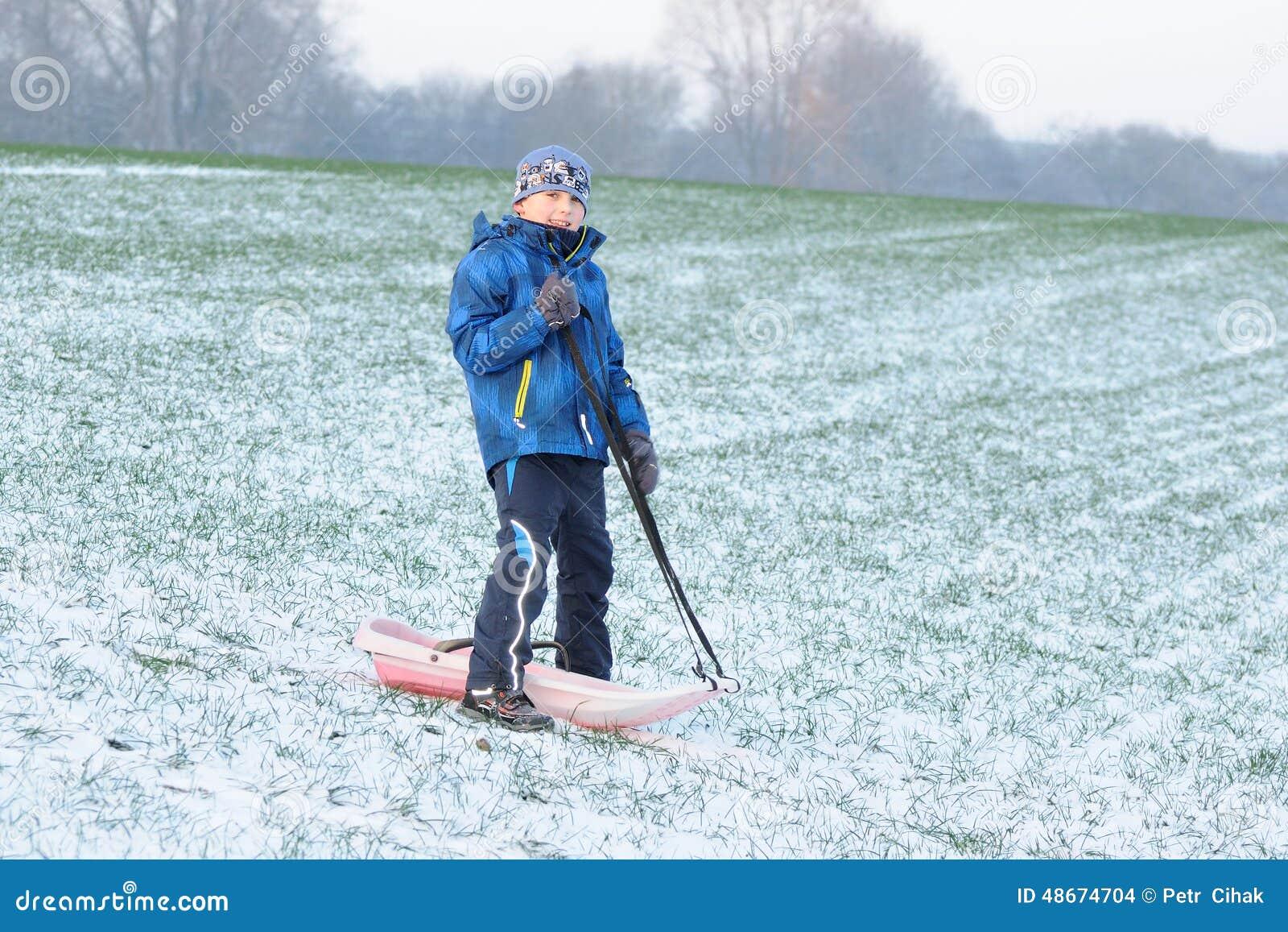 Spaß auf erstem Schnee
