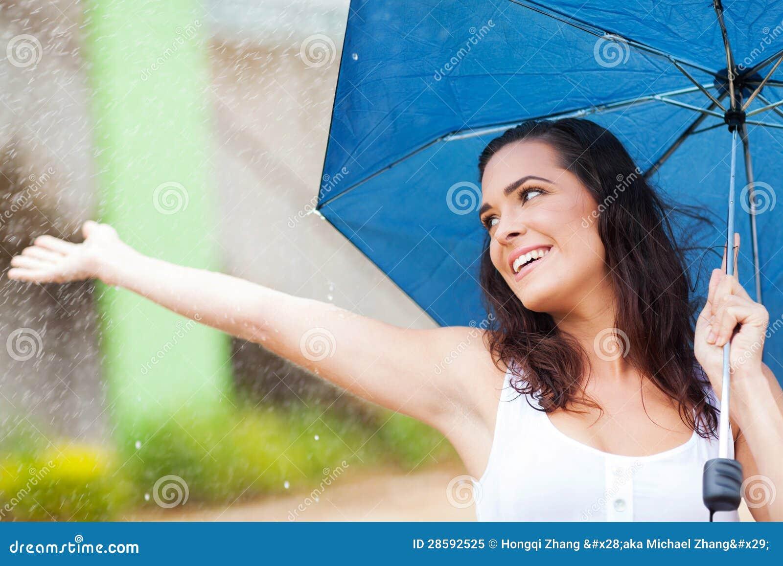 Spaß im Regen haben