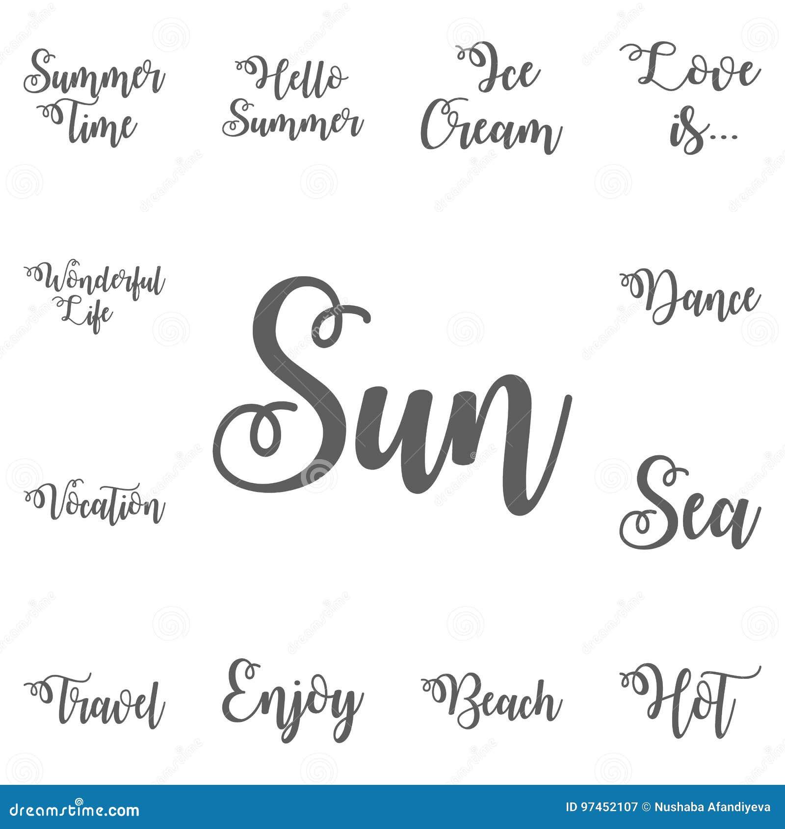 Spaß Im Sun Kreative Und Einzigartige Beschriftung Zitiert Während ...
