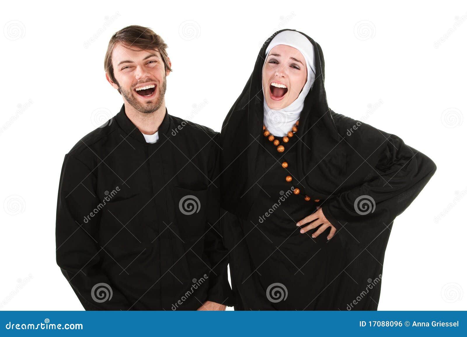 Spaß-Priester und Nonne