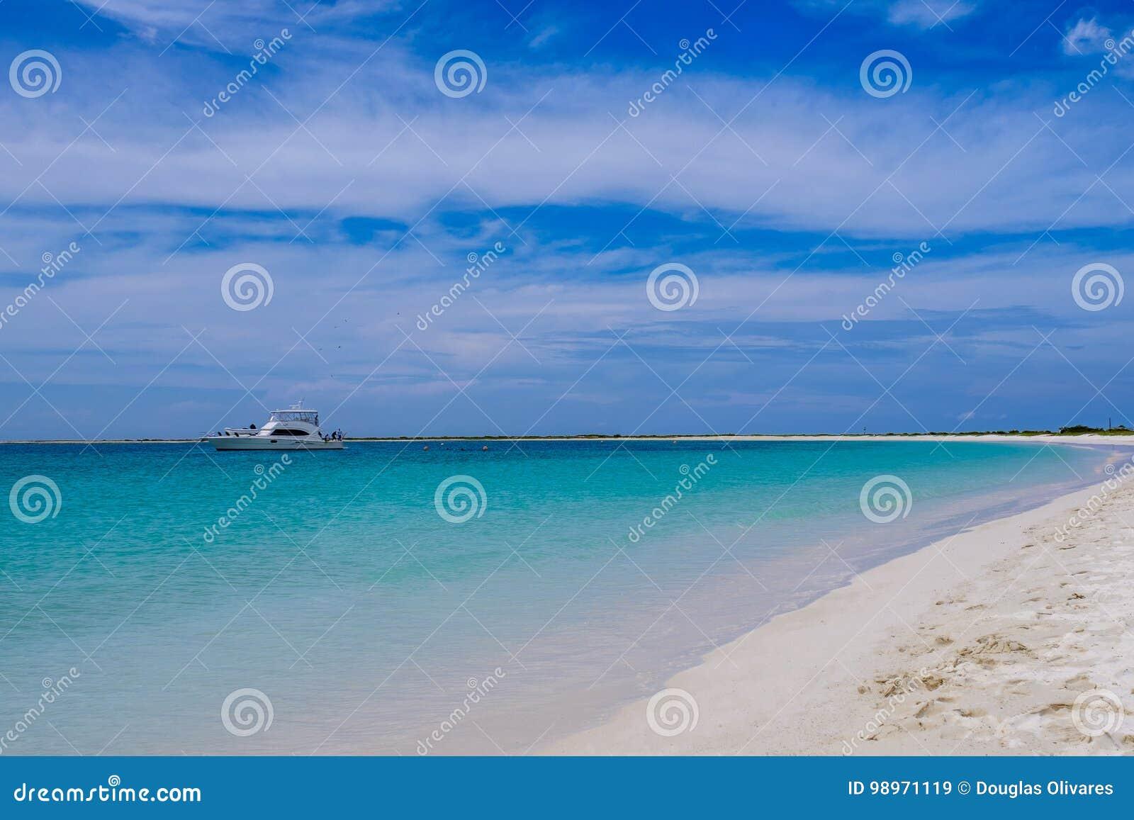 Spasstag Am Strand Tortuga Insel Venezuela Stockbild Bild Von
