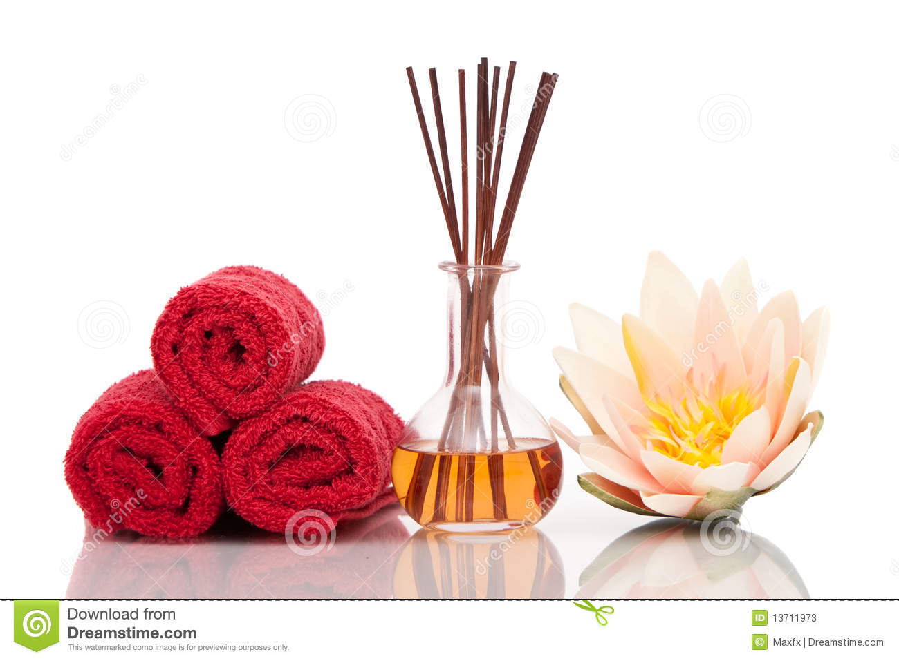 Spa And Aromatherapy Items With Lotus Flower Stock Image Image Of