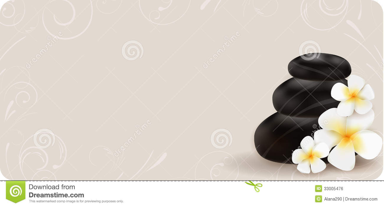 Spa Background With Stones And Flowers Royalty Free Stock