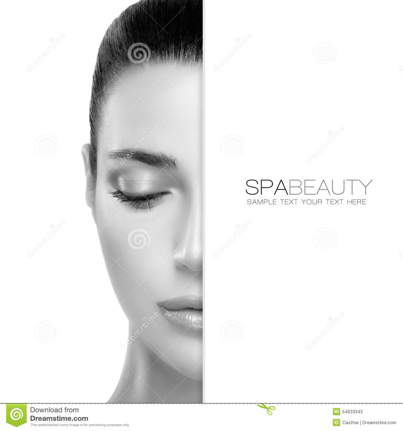 Spa Beauty and Skincare concept. Template Design