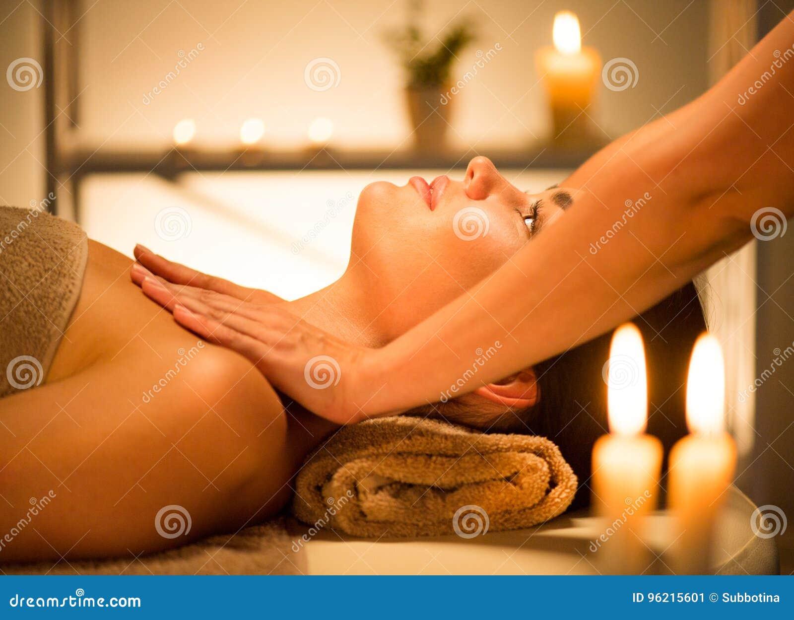 Spa. Beauty woman enjoying relaxing body massage in spa salon