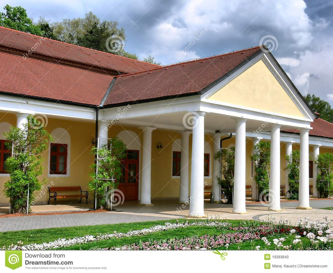 Spa building stock photo image of roof gallery piestany for Spa construction