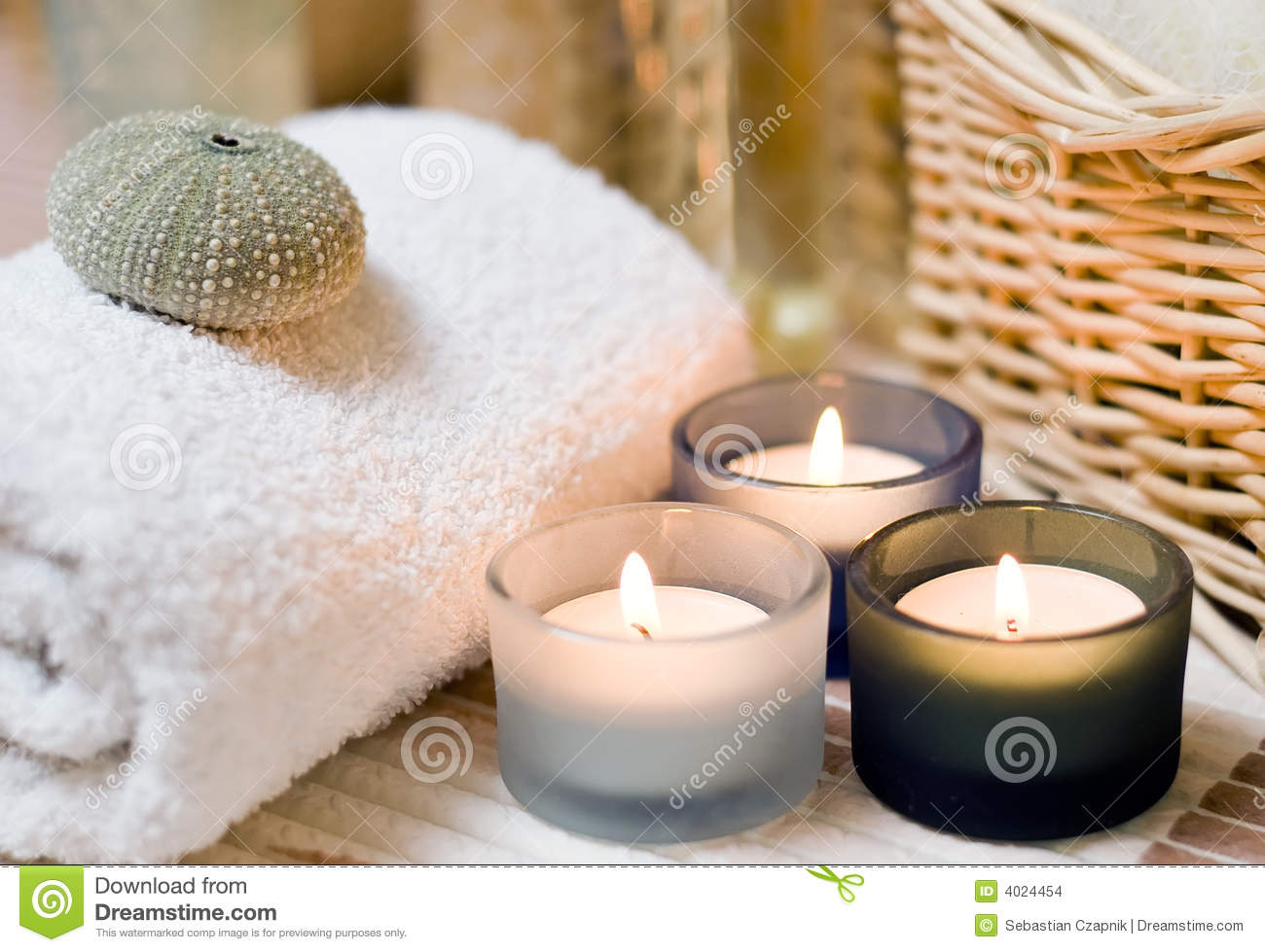 spa candles composition stock photo image of bath candle 4024454. Black Bedroom Furniture Sets. Home Design Ideas
