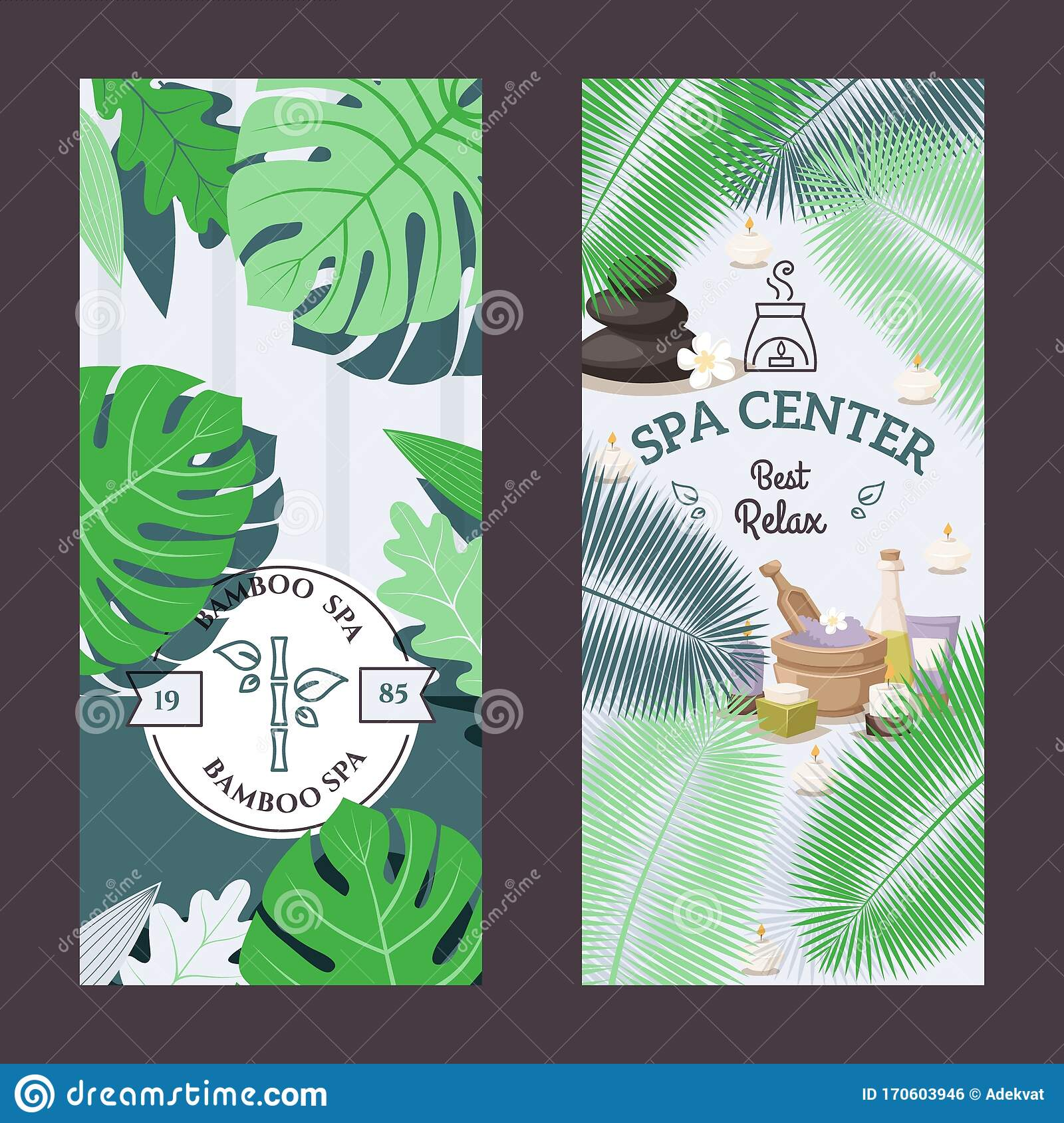 Spa Center Advertisement Banner Vector Illustration Beauty Salon Promotion Campaign Relaxing Procedures Skincare Stock Vector Illustration Of Atmosphere Label 170603946