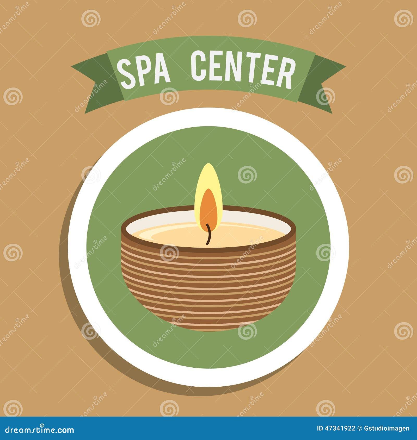 Spa Center Design Vector Illustration