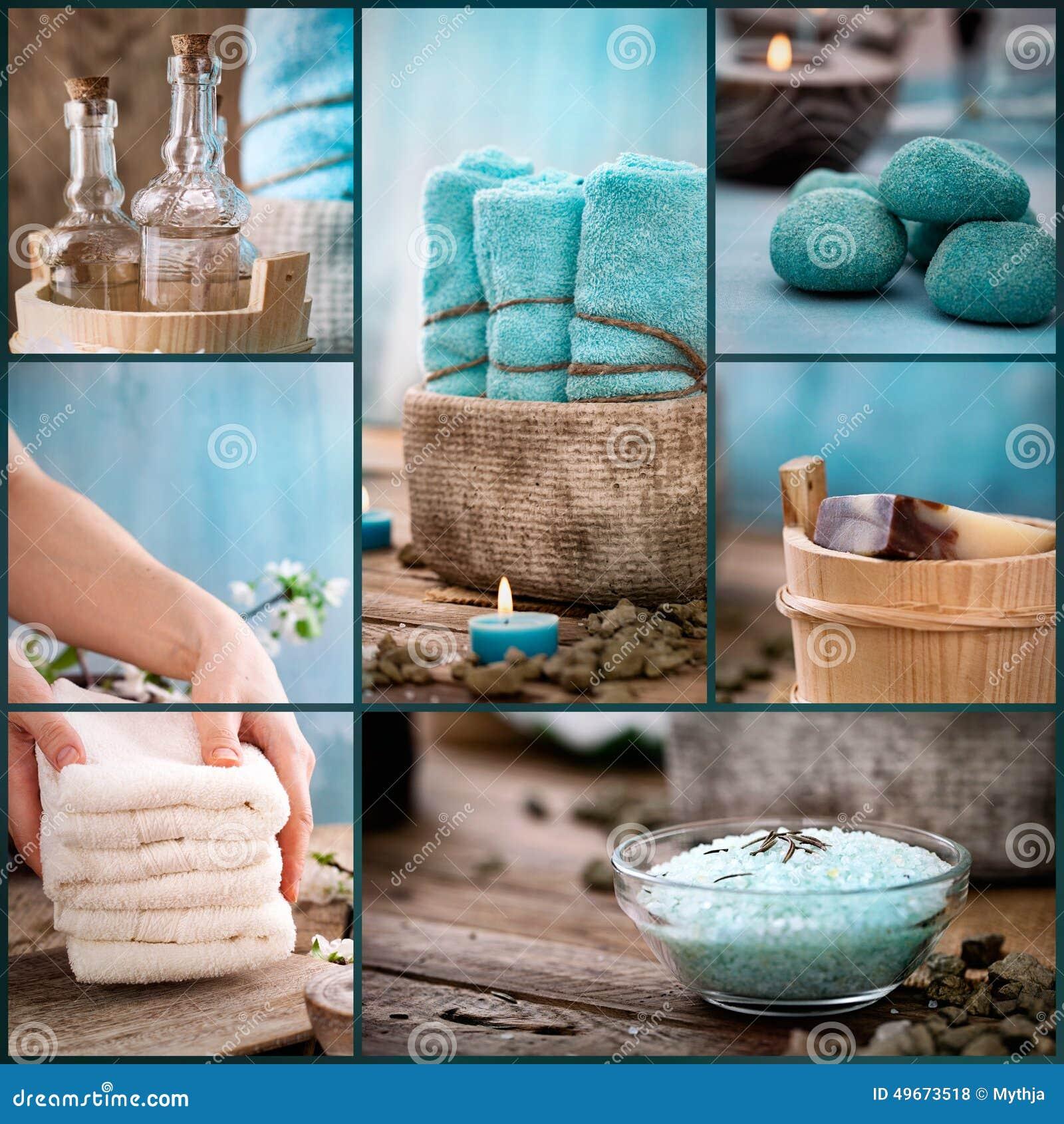 Spa Collage Stock Photo Image 49673518