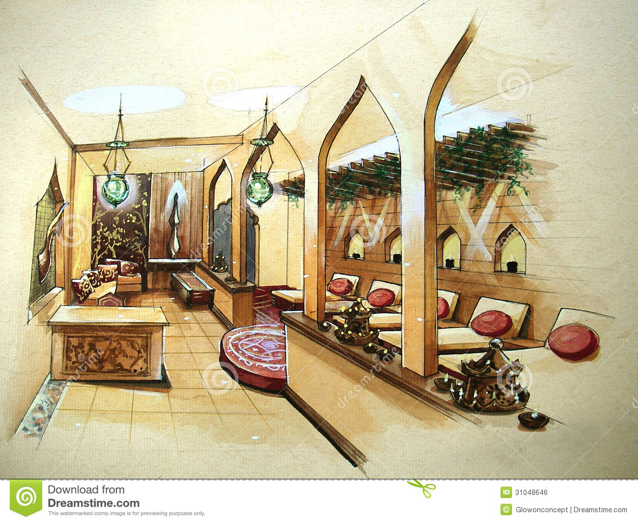 Spa design interior illustration royalty free stock image for Image of interior design