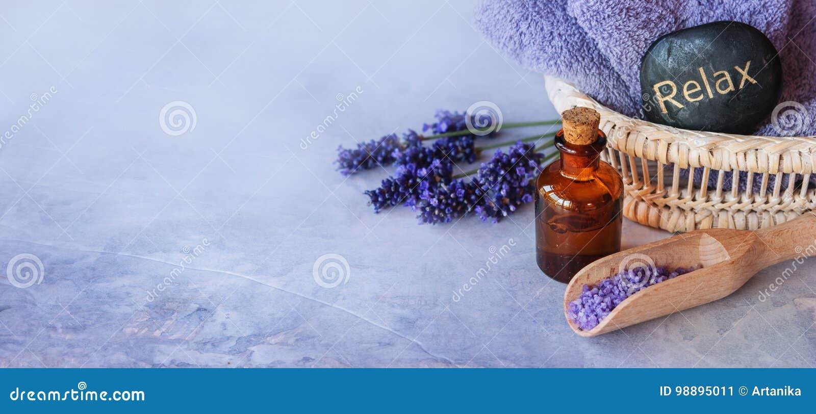 Lavender essential oil spa