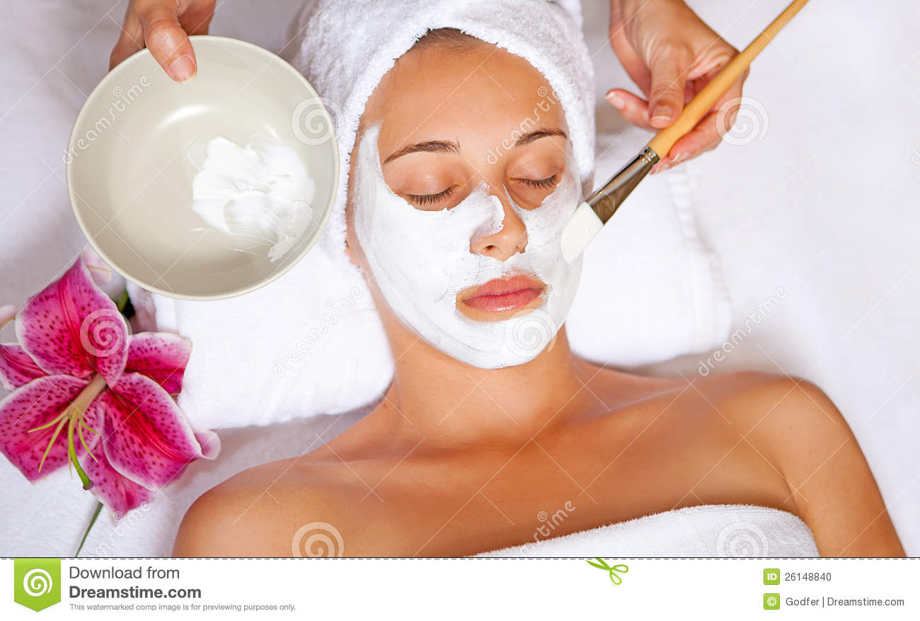 Spa Face Mask Stock Photo - Image: 26148840