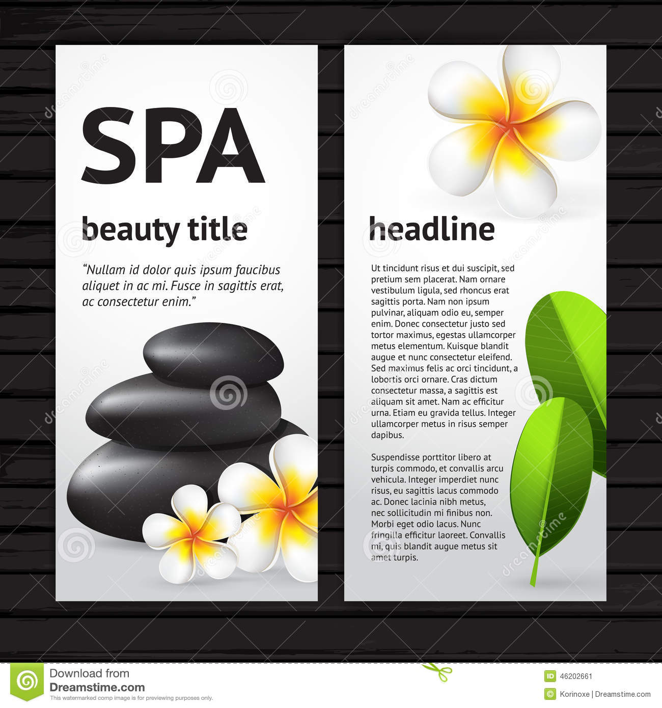 spa flyer design template stock vector   image 46202661