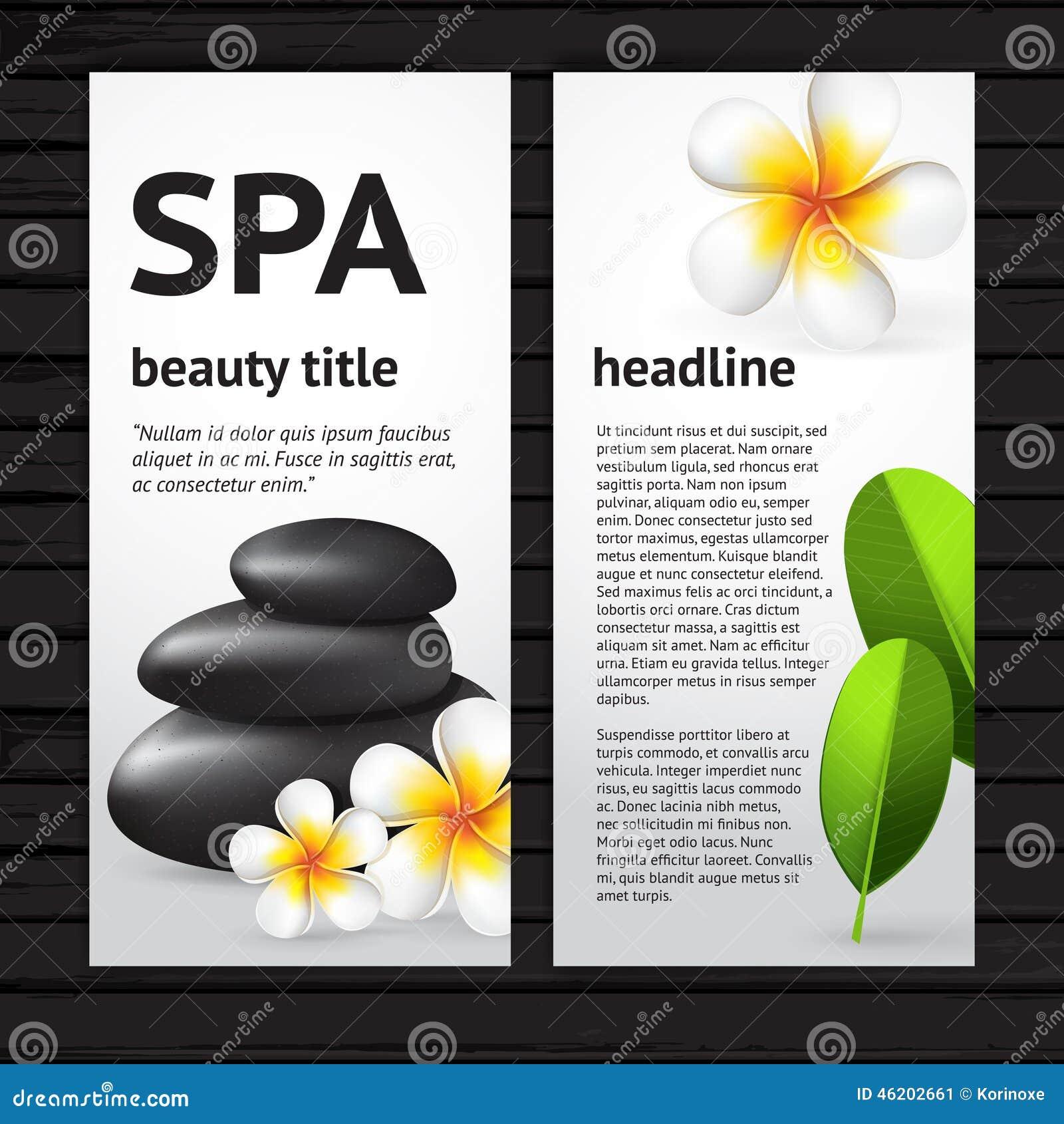 Spa Flyer Design Template Stock Vector Image 46202661
