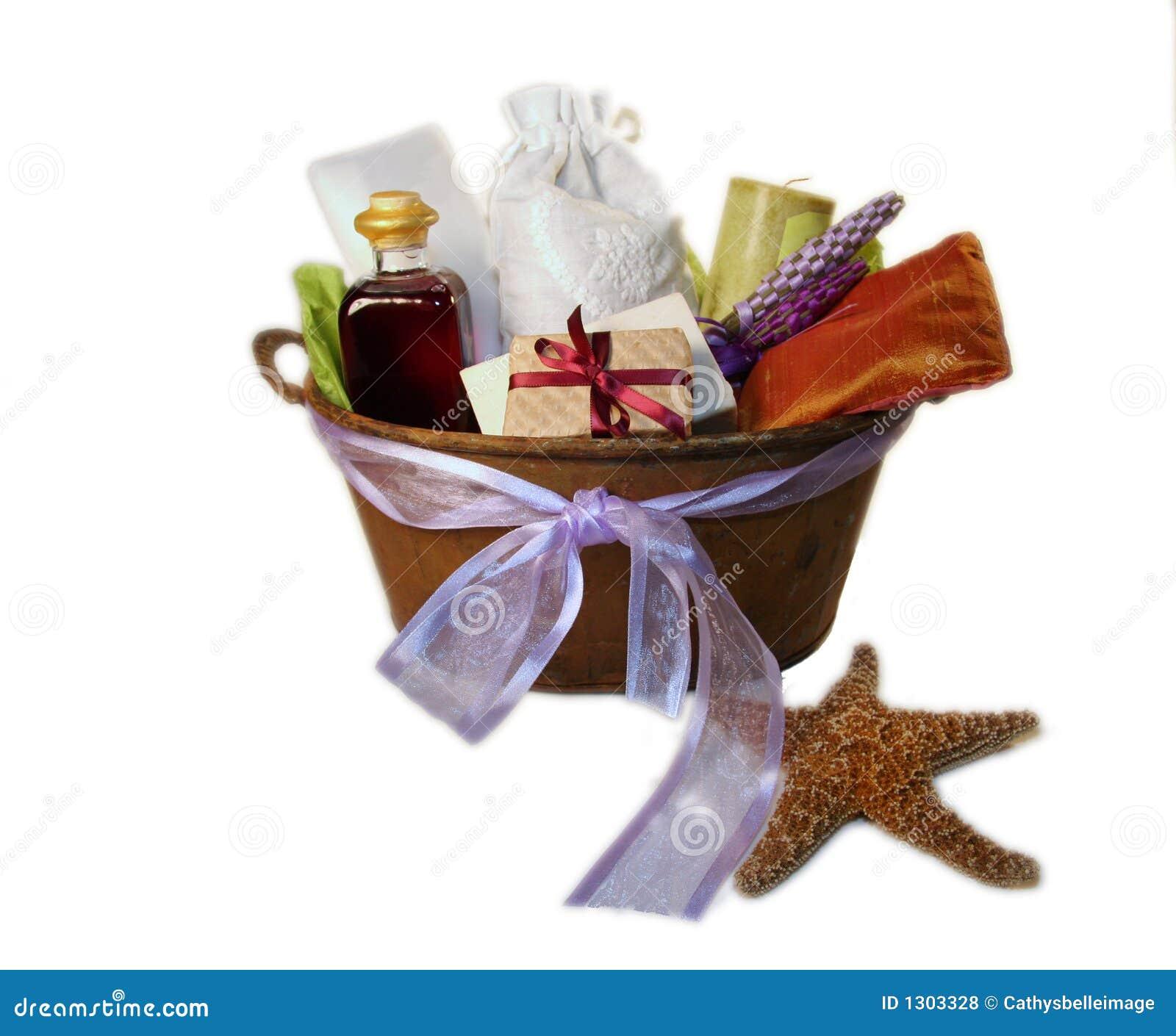 Spa Gift Basket Royalty Free Stock Photos Image 1303328