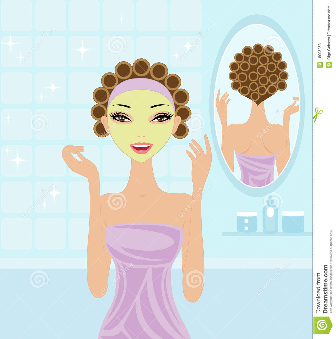Spa Girl Stock Vector Image Of Beauty Young Preparation