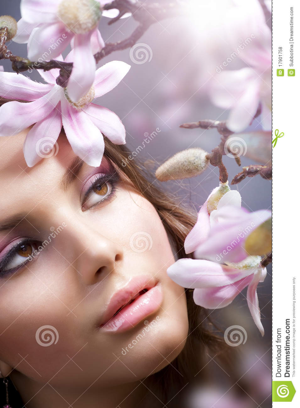 Spa Girl with flowers