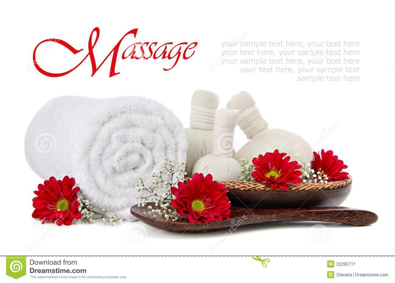 Spa Herbal Compress Massage Stock Image - Image: 22295711