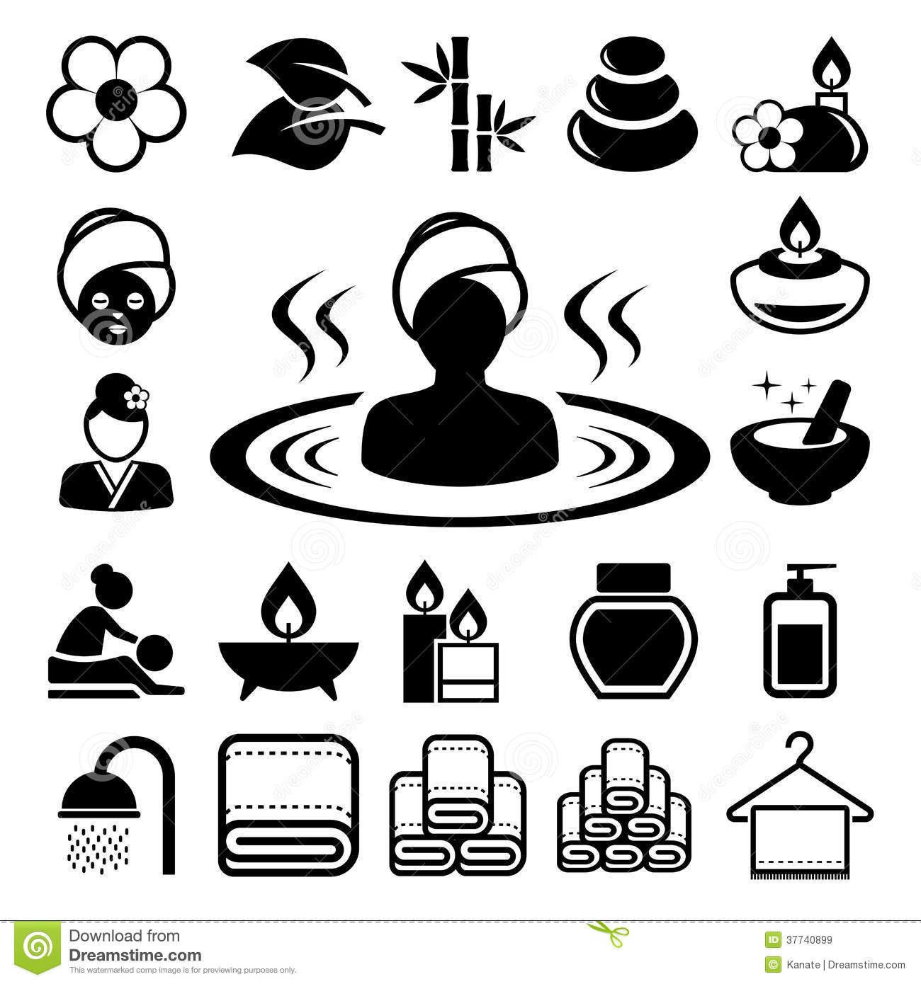 Spa Icons Set Royalty Free Stock Images Image 37740899
