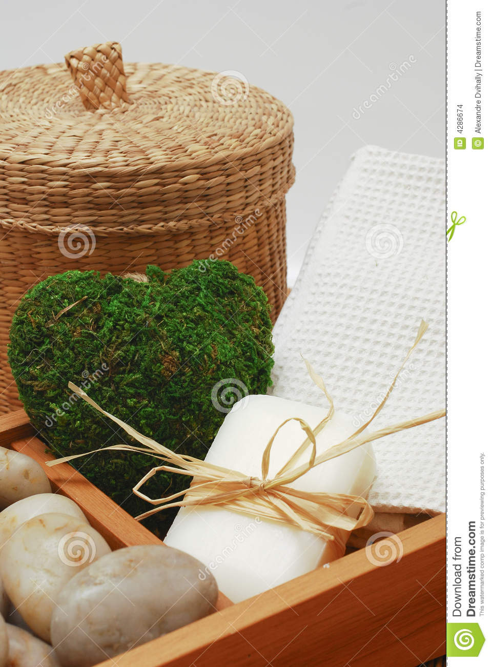 spa kit for wellness or relaxing stock images image 4286674