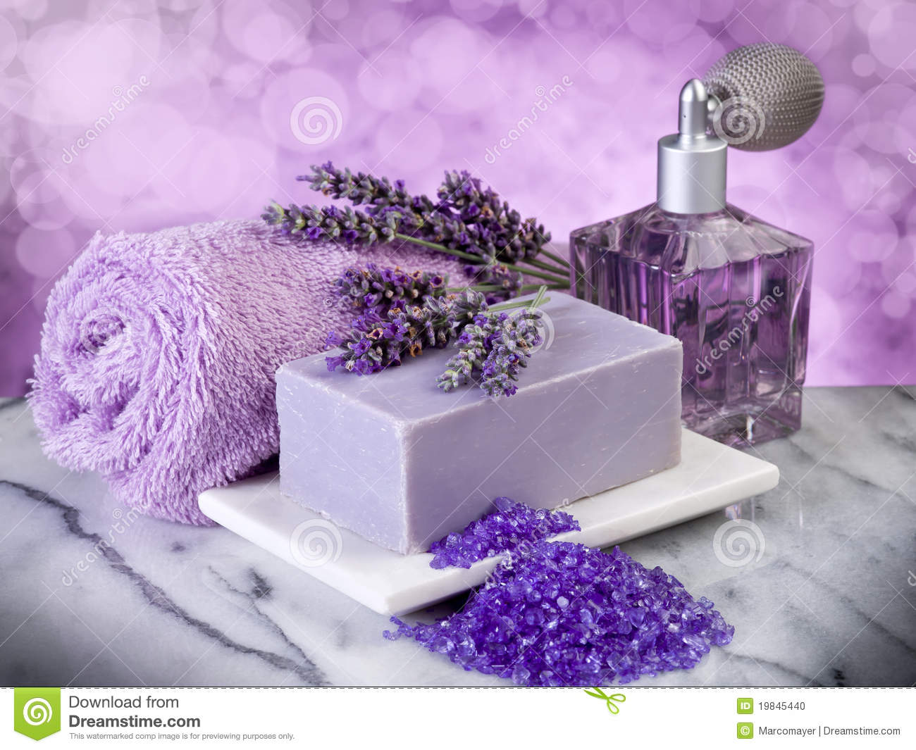Spa Lavender Bath Products Stock Photo Image 19845440