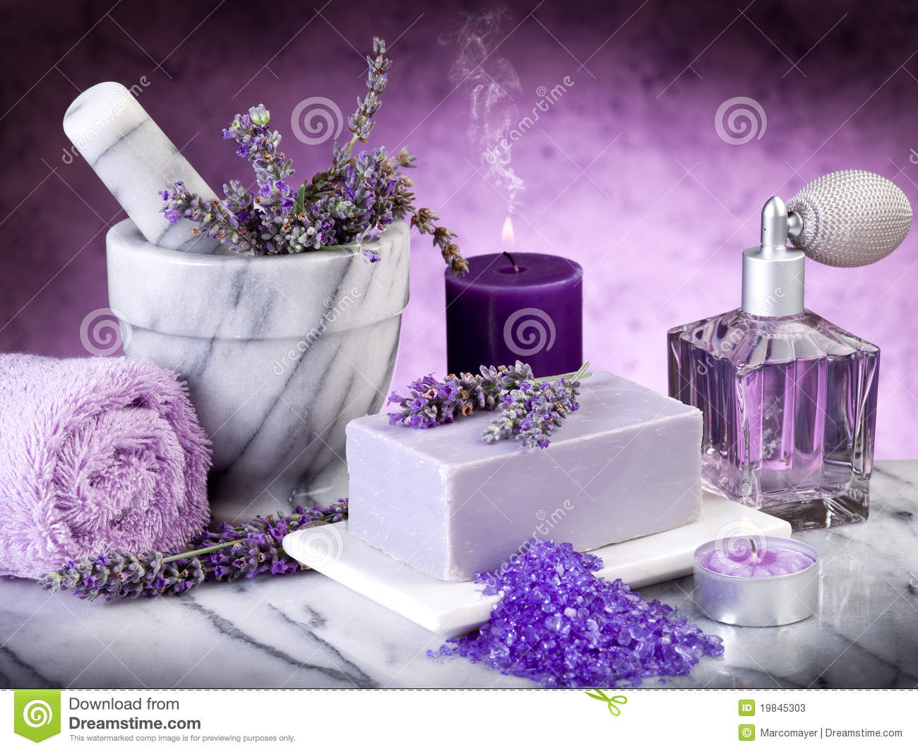 Spa Lavender Products Stock Photos - Image: 19845303 Z Table Chart