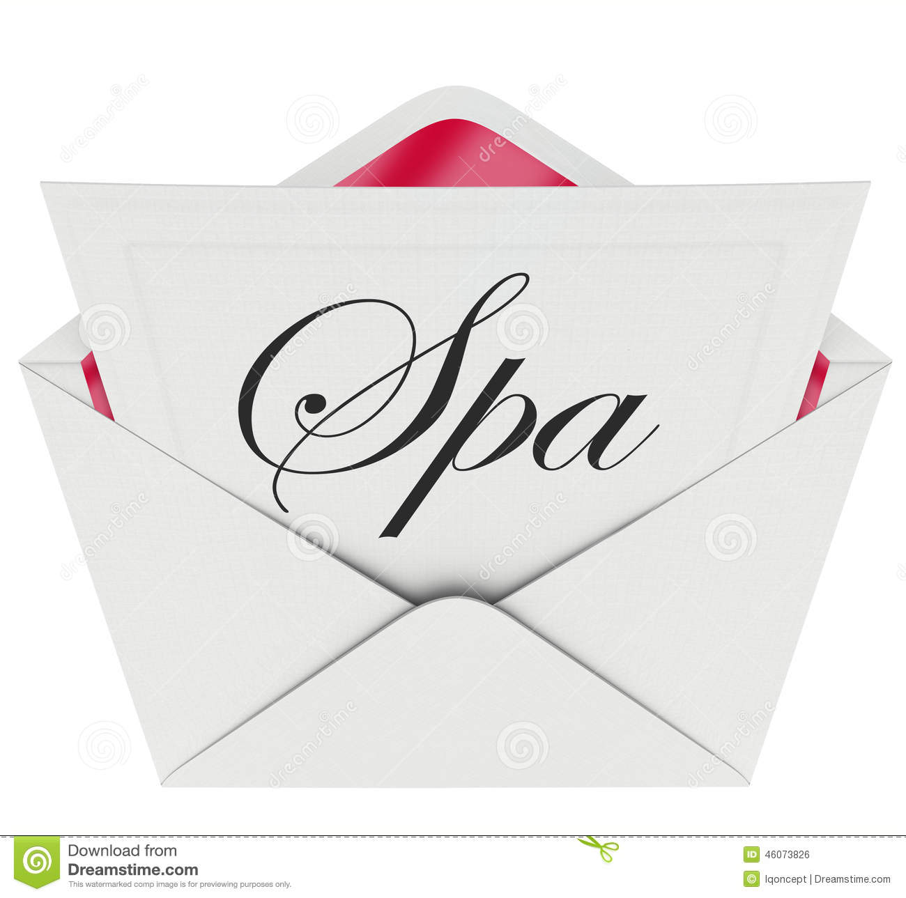 Spa Letter Invitation Special Offer Relaxation Treatment Massage
